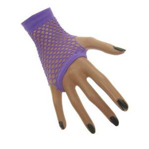 Nethandschoen vingerloos Neon Paars