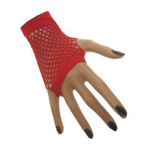 Nethandschoen vingerloos Rood