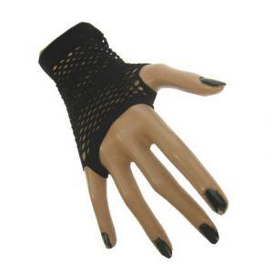 Nethandschoen vingerloos zwart