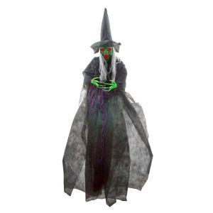 Halloween Heks met licht en geluid 180 cm