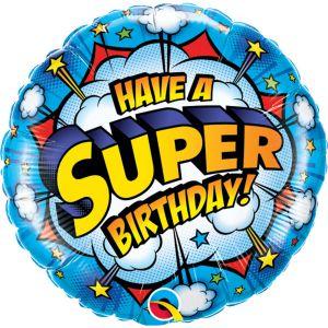 Folieballon Have a Super Birthday