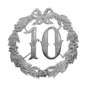 Jubileum Bord 10 Jaar