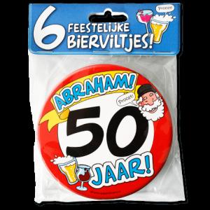 Bierviltjes 50 Jaar Abraham (6 stuks)