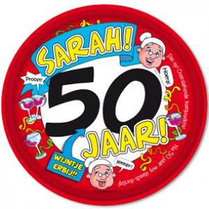 Dienblad 50 Jaar Sarah