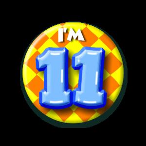 Button klein 11 jaar