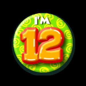 Button klein 12 jaar