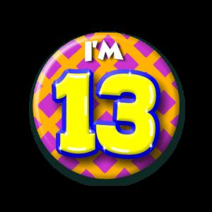 Button klein 13 jaar