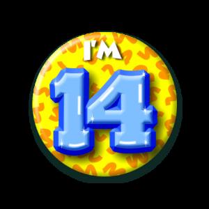 Button klein 14 jaar