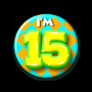 Button klein 15 jaar