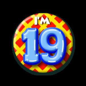 Button klein 19 jaar