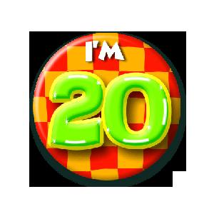 Button klein 20 jaar