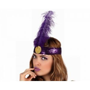 Charleston headband purple