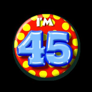 Button klein 45 jaar