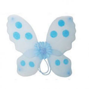 Vlinder Vleugel Blauw-Wit