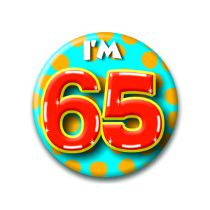 Button klein 65 Jaar