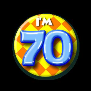 Button klein 70 jaar
