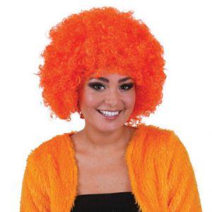 006. Pruik Afro Hippie Oranje