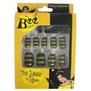 Nagels 24 stuks Bijen