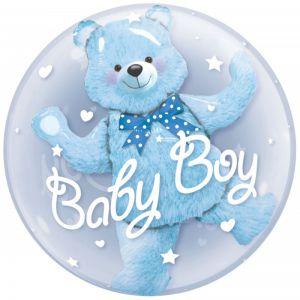 Helium Ballon Baby Boy Blauw