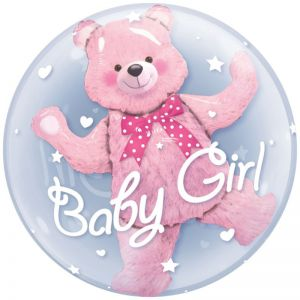 Helium Ballon Baby Girl Roze