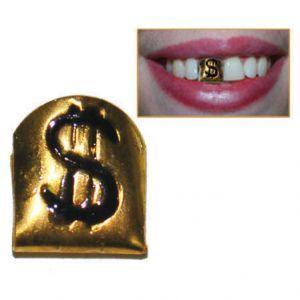 Goudentand met Dollarteken