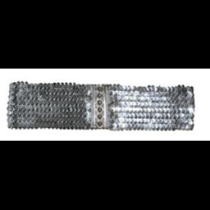 Riem Elastisch Pailletten Zilver