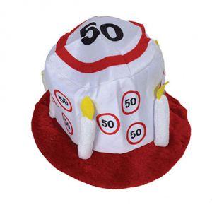 Hoed verjaardag 50 Verkeersbord