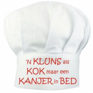 Koksmuts - 'n Kluns als kok maar een kanjer in bed