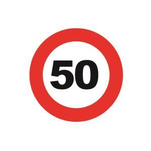 Onderzetters/Magneet 50 Jaar (6 stuks)