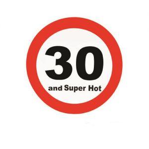 Verkeersbord 30 Jaar (50cm.)