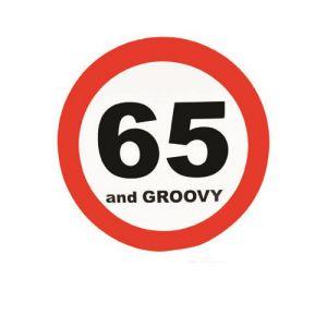 Verkeersbord 65 Jaar (50cm.)
