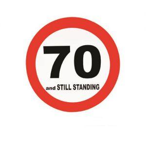 Verkeersbord 70 Jaar (50cm.)