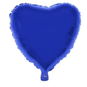 Folieballon Hart Blauw 52x46 cm