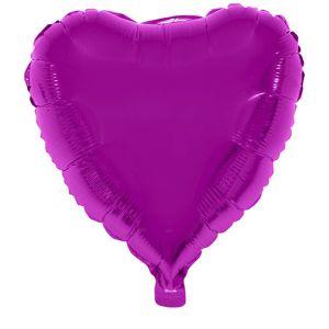 Folieballon Hart Roze 52x46 cm