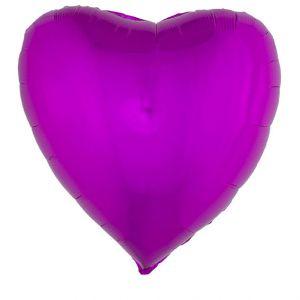 Folieballon XL Hart Roze 80x74 cm