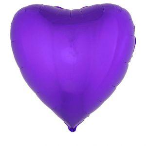 Folieballon XL Hart Paars 80x74 cm