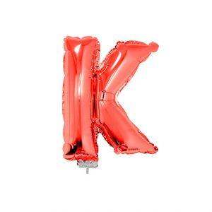 Folieballon Rood Letter K, 40 cm