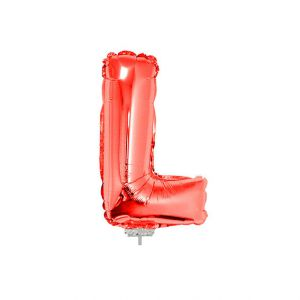 Folieballon Rood Letter L, 40 cm
