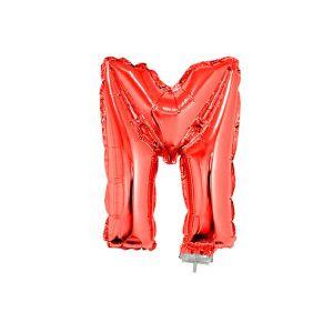 Folieballon Rood Letter M, 40 cm