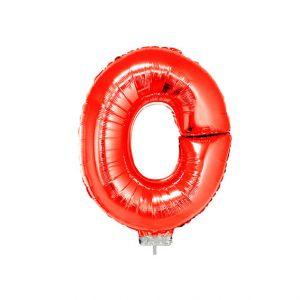 Folieballon Rood Letter O, 40 cm