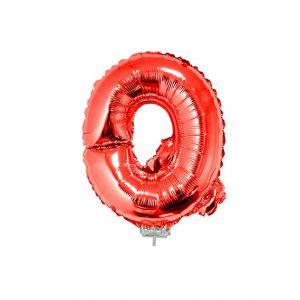 Folieballon Rood Letter Q, 40 cm