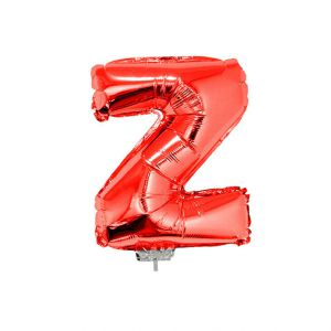 Folieballon Rood Letter Z, 40 cm