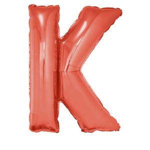 Folieballon Zilver Letter K 102 cm