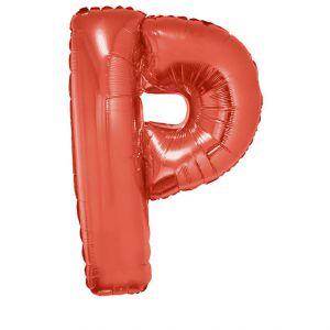 Folieballon Rood Letter P 102 cm