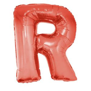 Folieballon rood Letter R 102 cm