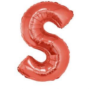 Folieballon Rood Letter S 102 cm