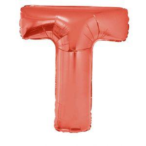 Folieballon Rood Letter T 102 cm
