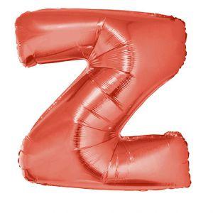 Folieballon Rood Letter Z 102 cm