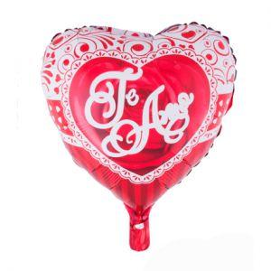 Folieballon Hart 52x46 cm