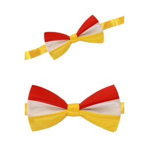 Vlinderstrik  rood/wit/geel